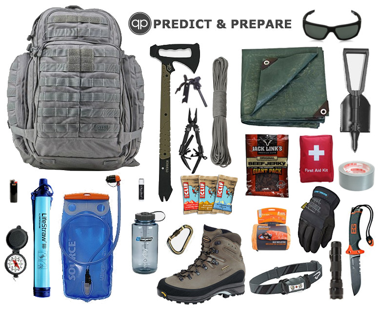 BUG OUT GEAR BACKPACK BAG- PREDICTANDPREPARE.COM